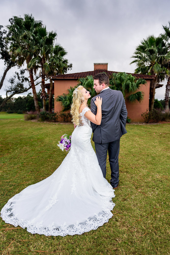 Bride looking up at her Groom outside, Star Wars Wedding in Scenic Hills Country Club, Lazzat Photography