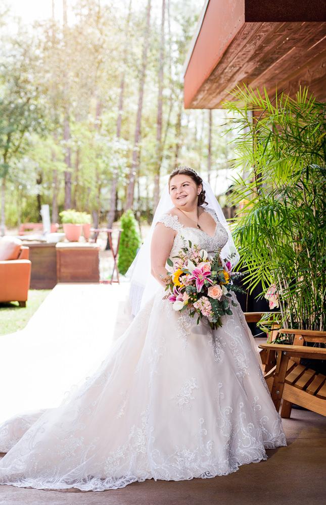 Bride's bridal portrait outside, Coldwater Gardens, Rustic Fairy Tale Wedding, Lazzat Photography