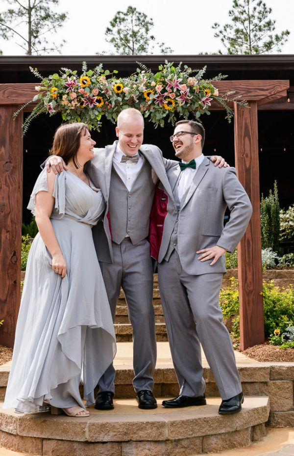 Groom and his groomsman and best women, Coldwater Gardens, Rustic Fairy Tale Wedding, Lazzat Photography