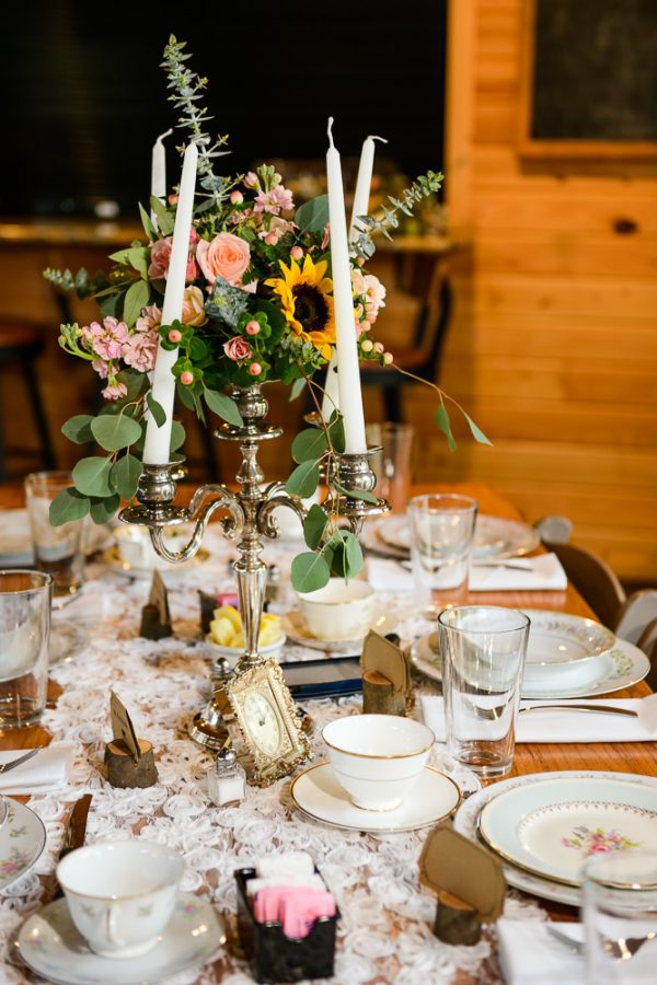 Bride and Groom's candelabra centerpieces, Coldwater Gardens, Rustic Fairy Tale Wedding, Lazzat Photography