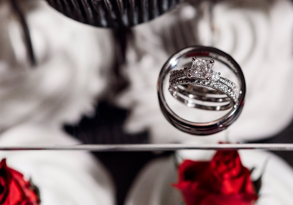 Carla + Lorenzo's rings, 5Eleven Palafox, Romantic Red Rose Wedding, Lazzat Photography