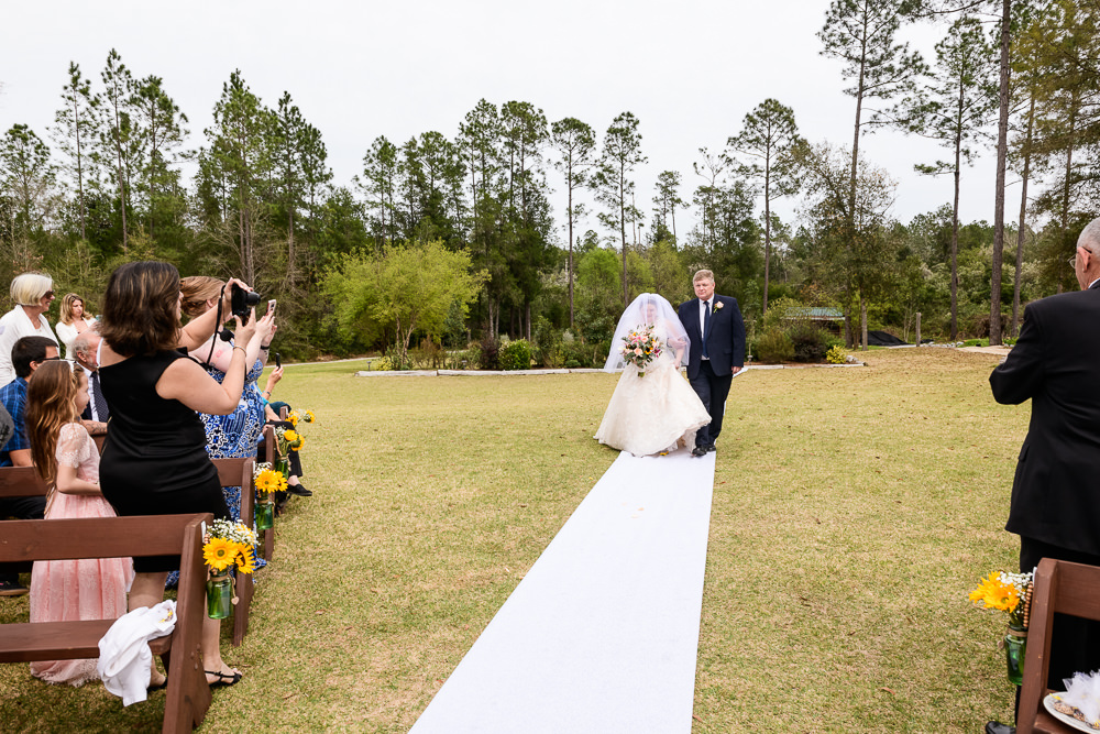 Bride's dad walking her down the aisle, Coldwater Gardens, Rustic Fairy Tale Wedding, Lazzat Photography