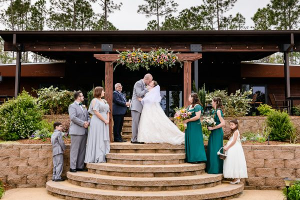Bride and Groom's first kiss, Coldwater Gardens, Rustic Fairy Tale Wedding, Lazzat Photography