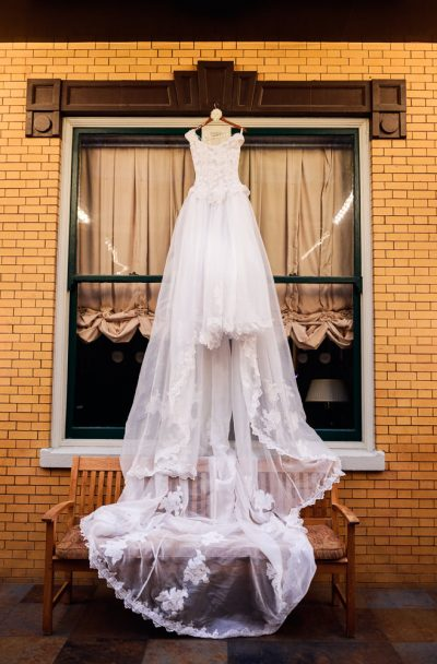 Carla's wedding dress at The Pensacola Grand Hotel, Romantic Red Rose Wedding, Lazzat Photography