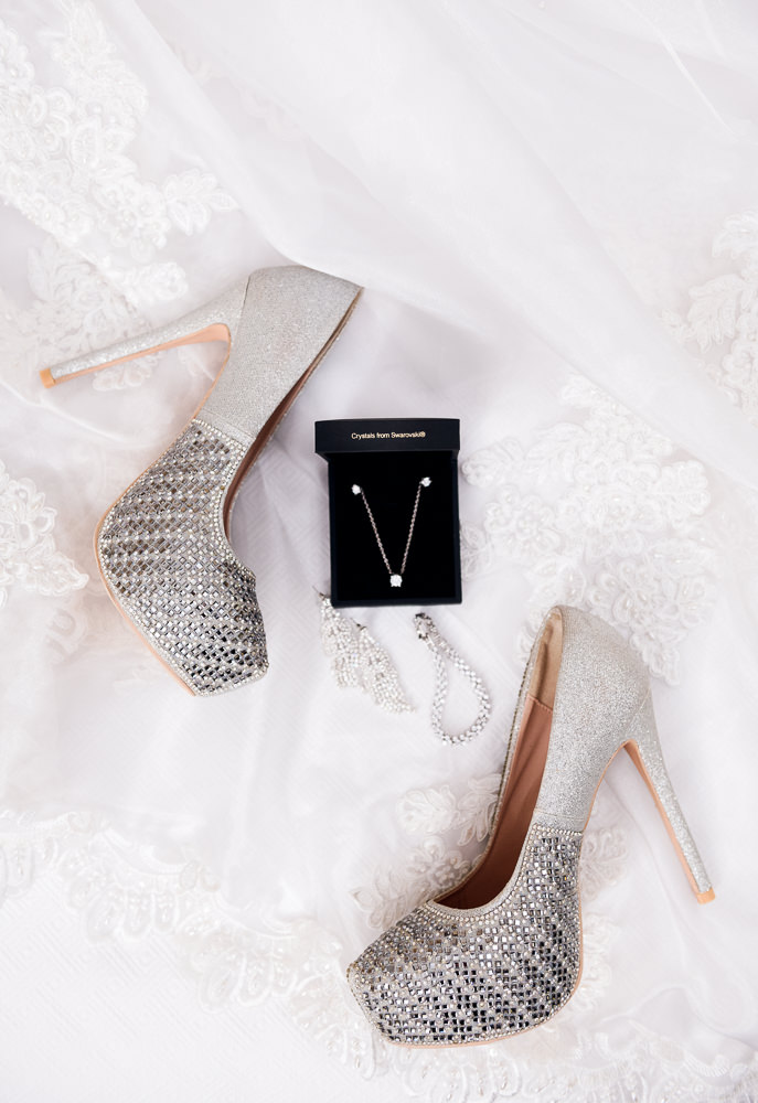 Carla's shoes and jewelry, Romantic Red Rose Wedding, Lazzat Photography