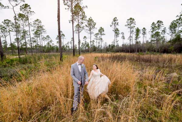 Groom leading Bride through the field, Coldwater Gardens, Rustic Fairy Tale Wedding, Lazzat Photography