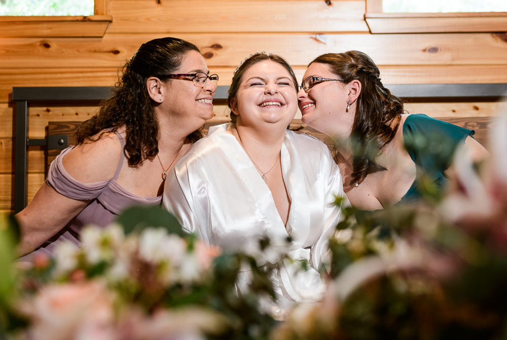 Bride with her mom and sister, Coldwater Gardens, Rustic Fairy Tale Wedding, Lazzat Photography