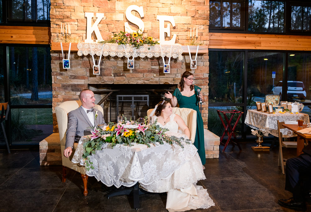 Bride's sister giving her toast, Coldwater Gardens, Rustic Fairy Tale Wedding, Lazzat Photography