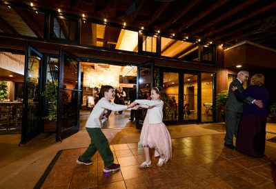 Kids dancing outside, Coldwater Gardens, Rustic Fairy Tale Wedding, Lazzat Photography