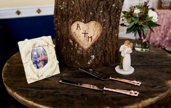 Personalized Tree stump cake stand and wedding cake accessories, Fort Walton Beach, Fort Walton Yacht Club, Florida Wedding, Lazzat Photography