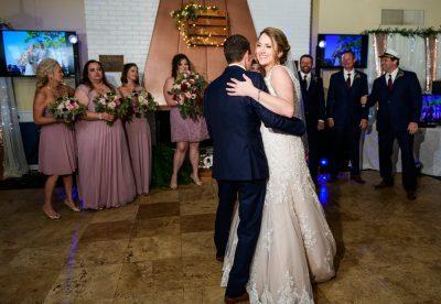 Bride and Groom's first dance, Fort Walton Beach, Fort Walton Yacht Club, Florida Wedding, Lazzat Photography