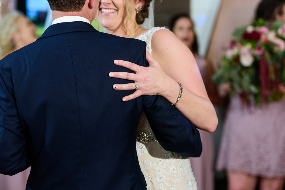 Close up of Bride and Groom's first dance, Fort Walton Beach, Fort Walton Yacht Club, Florida Wedding, Lazzat Photography