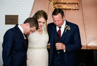 Groomsmen blessing the food with Bride and Groom, Fort Walton Beach, Fort Walton Yacht Club, Florida Wedding, Lazzat Photography