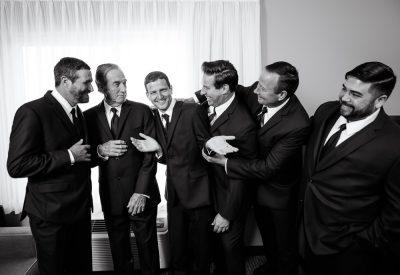 Groom and groomsmen black and white, Groom photos, Rustic Waterfront Wedding, Fort Walton Beach, Fort Walton Yacht Club, Florida Wedding, Lazzat Photography