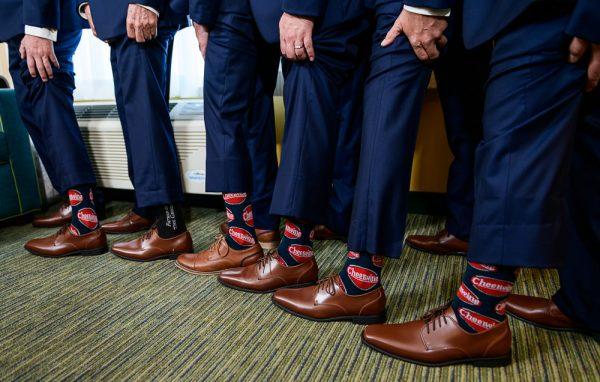 Groom and groomsmen cheerwine socks, Groom photos, Rustic Waterfront Wedding, Fort Walton Beach, Fort Walton Yacht Club, Florida Wedding, Lazzat Photography