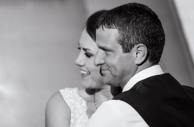 Bride and Groom in black and white, Fort Walton Beach, Fort Walton Yacht Club, Florida Wedding, Lazzat Photography