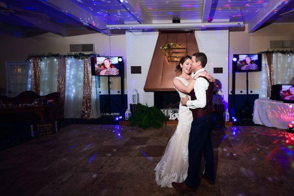 Bride and Groom dancing alone, Fort Walton Beach, Fort Walton Yacht Club, Florida Wedding, Lazzat Photography