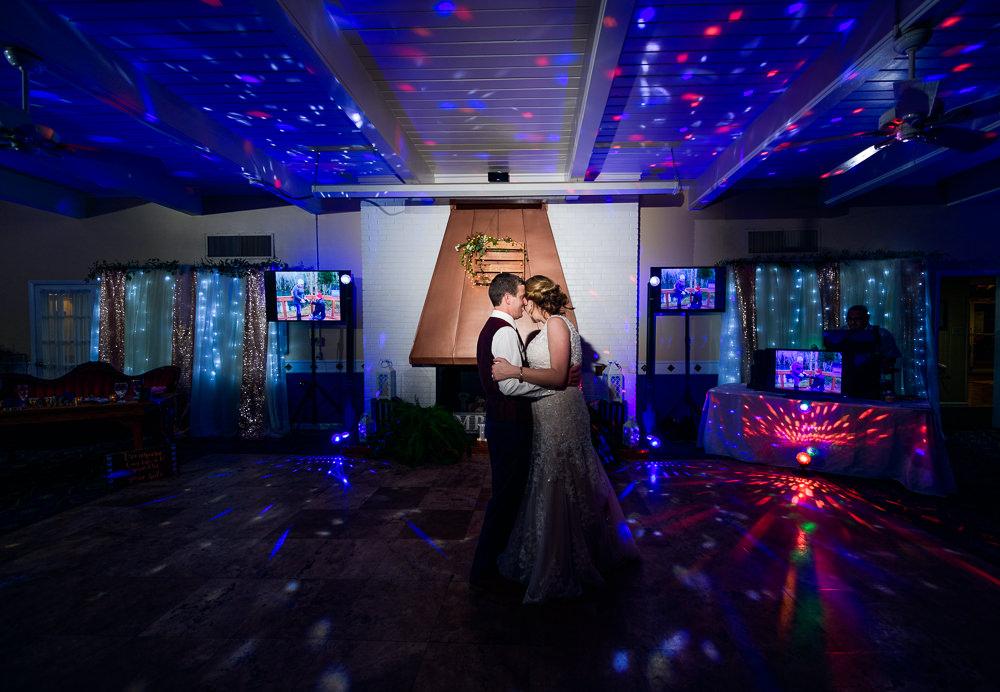 Bride and Groom dancing head to head, Fort Walton Beach, Fort Walton Yacht Club, Florida Wedding, Lazzat Photography