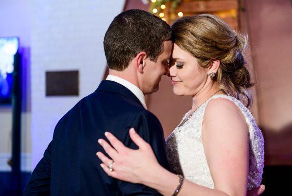 Bride and Groom dancing forehead to forehead, Fort Walton Beach, Fort Walton Yacht Club, Florida Wedding, Lazzat Photography