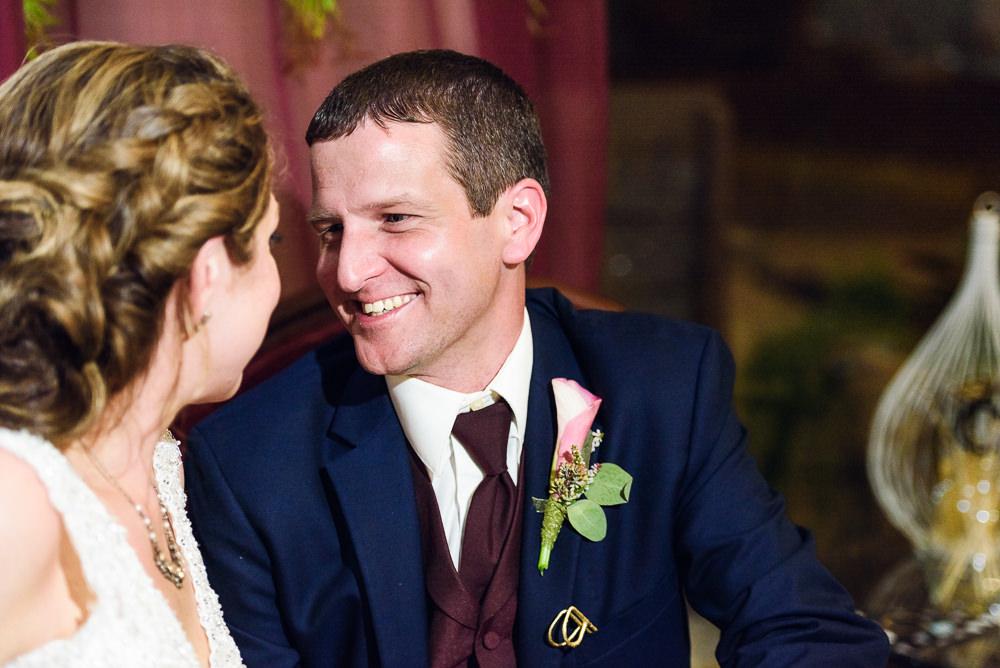 Groom smiling at his Bride, Fort Walton Beach, Fort Walton Yacht Club, Florida Wedding, Lazzat Photography