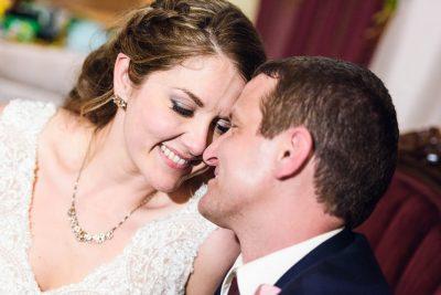 Bride and Groom forehead to forehead, Fort Walton Beach, Fort Walton Yacht Club, Florida Wedding, Lazzat Photography