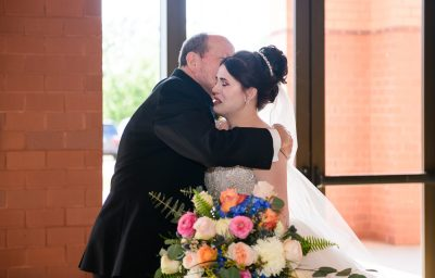 Bride crying during first look with dad, Romantic Catholic Wedding, Pensacola Florida Wedding Photographer, Lazzat Photography
