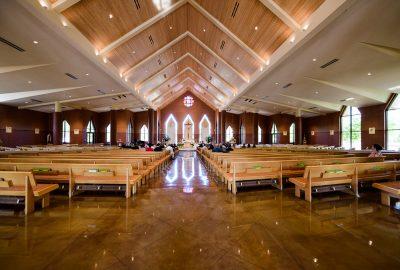 Full view of wedding ceremony, Romantic Catholic Wedding, Pensacola Florida Wedding Photographer, Lazzat Photography