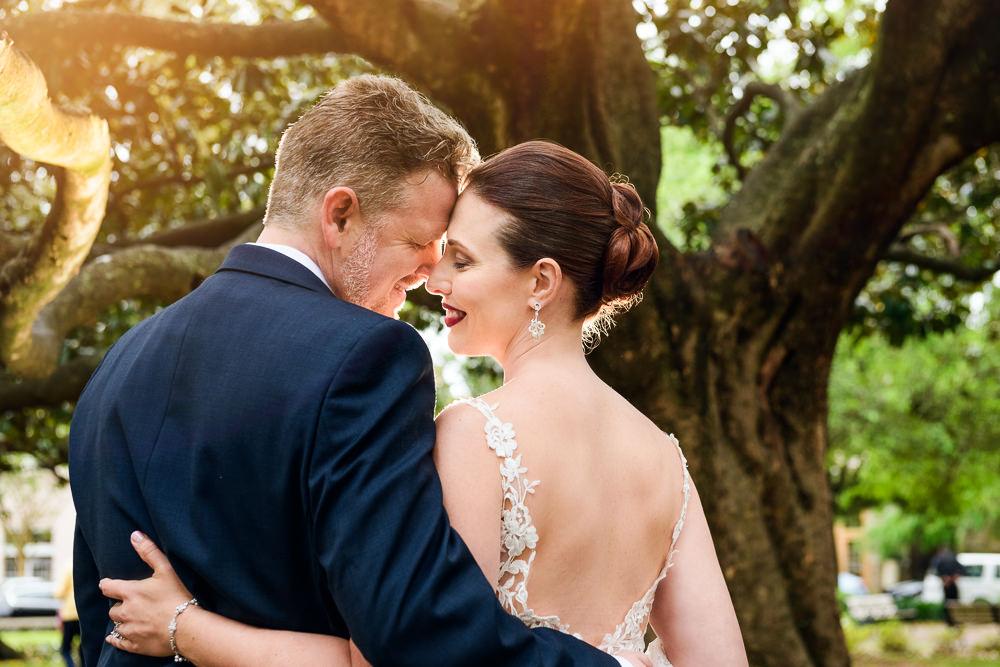 Bride and Groom head to head downtown Pensacola, Classic Pensacola Wedding, Lazzat Photography, Florida Wedding Photographer