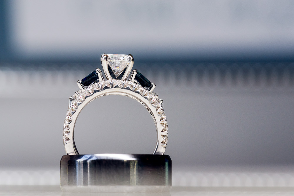 Bride and Groom's wedding rings, sapphire engagement ring, 5Eleven Palafox, Classic Pensacola Wedding, Lazzat Photography, Florida Wedding Photographer