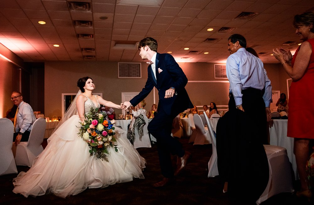 Groom getting Bride for their first dance, Romantic Catholic Wedding, Pensacola Florida Wedding Photographer, Lazzat Photography