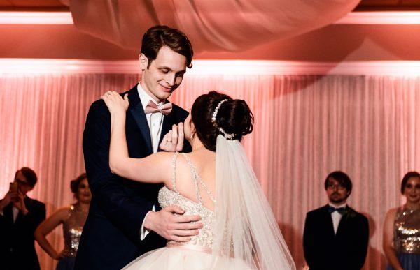 Bride and Groom's first dance close up, Romantic Catholic Wedding, Pensacola Florida Wedding Photographer, Lazzat Photography
