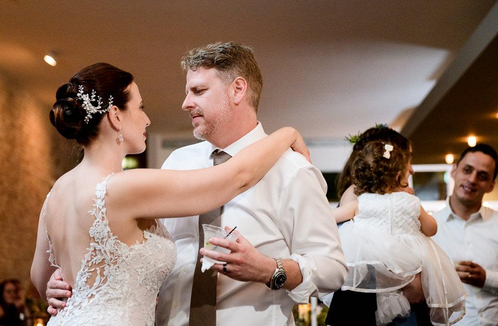 Close up of Bride and Groom dancing, 5Eleven Palafox, Classic Pensacola Wedding, Lazzat Photography, Florida Wedding Photographer