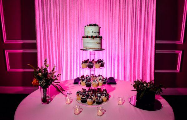 wedding cake and cupcakes, Romantic Catholic Wedding, Pensacola Florida Wedding Photographer, Lazzat Photography
