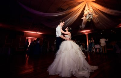 Bride and Groom dancing at their reception, Romantic Catholic Wedding, Pensacola Florida Wedding Photographer, Lazzat Photography