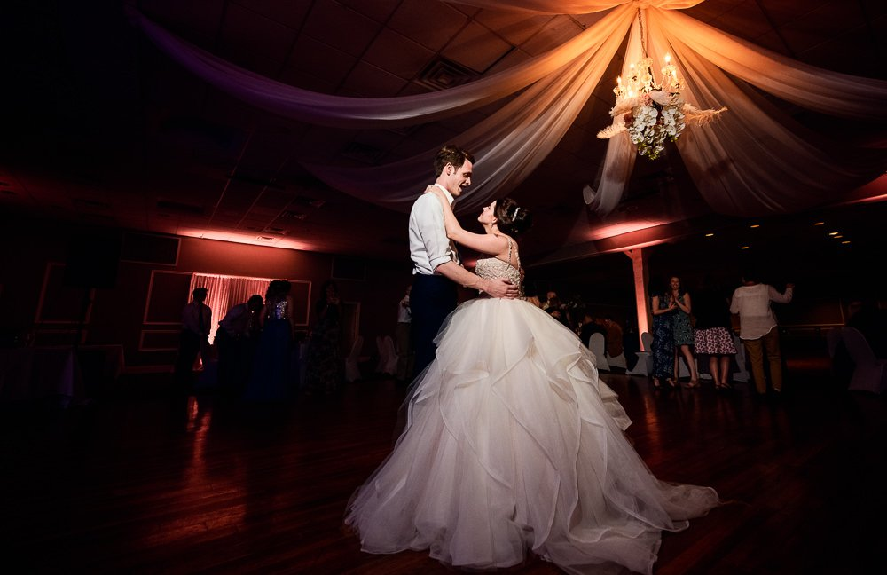 Bride and Groom dancing at their reception, Romantic Catholic Wedding, Pensacola Florida Wedding Photographer, Lazzat Photography