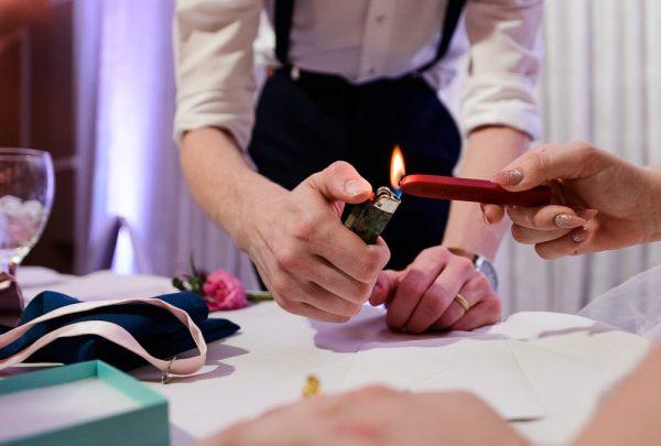 Bride and Groom sealing their vows, Romantic Catholic Wedding, Pensacola Florida Wedding Photographer, Lazzat Photography