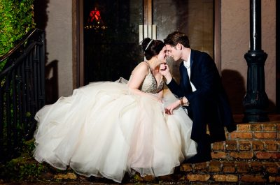 Bride and Groom head to head outside the reception, Romantic Catholic Wedding, Pensacola Florida Wedding Photographer, Lazzat Photography