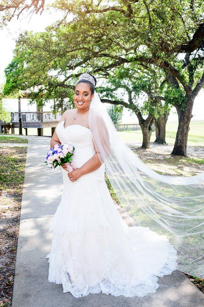 Bridal portrait, The Soundside Club, Elegant Ballroom Wedding, Lazzat Photography, Florida Wedding Photography