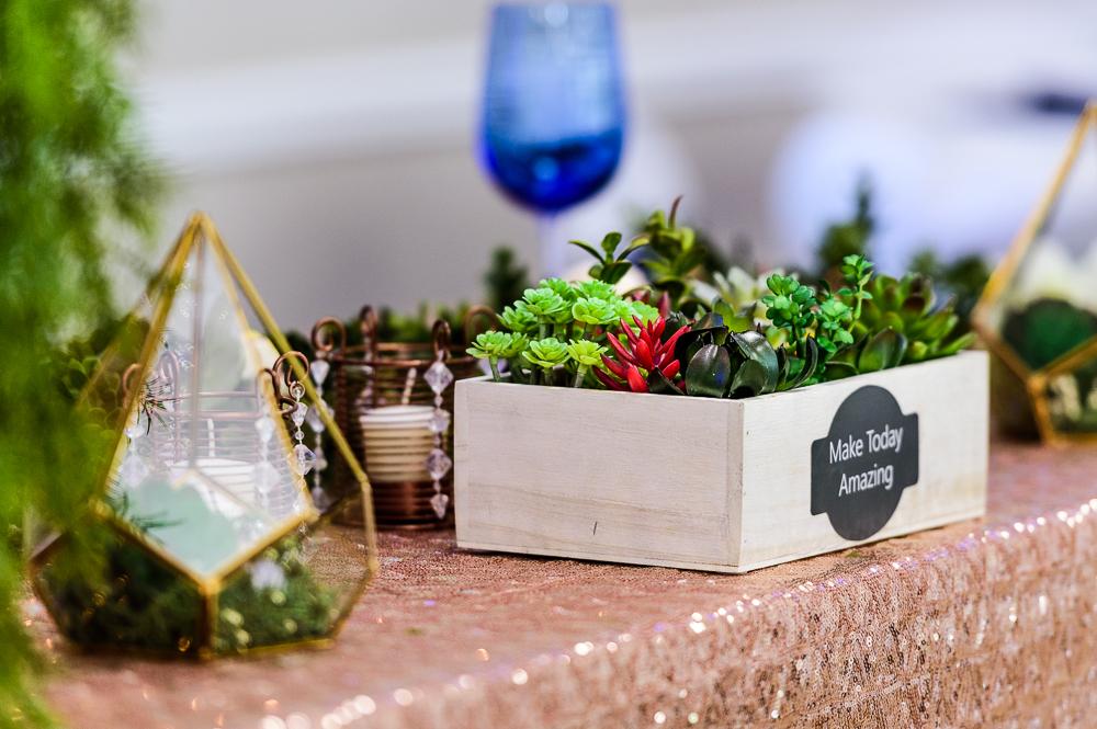 Succulent wedding details, The Garden Center, Pensacola Garden Wedding, Lazzat Photography, Florida wedding photographer photography