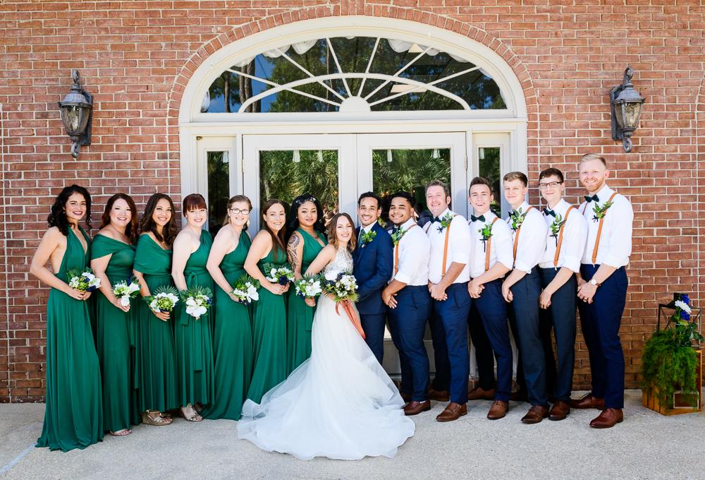 Wedding party smiling, The Garden Center, Pensacola Garden Wedding, Lazzat Photography, Florida wedding photographer photography