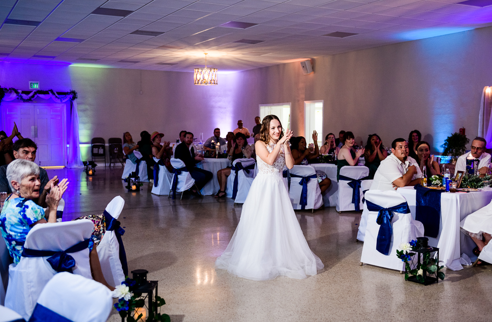 Bride listing to Groom sing to her, The Garden Center, Pensacola Garden Wedding, Lazzat Photography, Florida wedding photographer photography