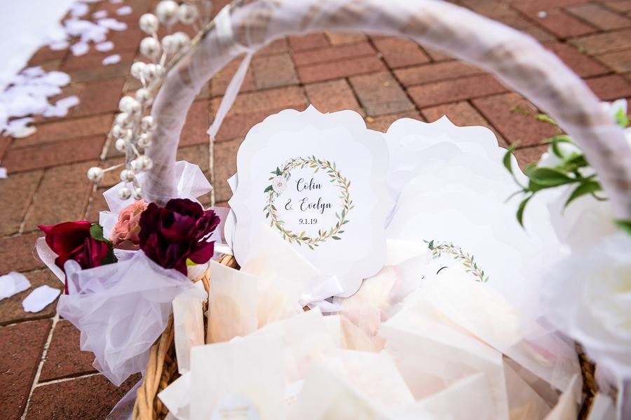 Fan wedding programs, seville square, Pensacola Summer Wedding, Lazzat Photography