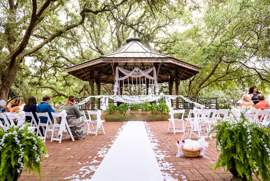 Gazebo wedding ceremony, seville square, Pensacola Summer Wedding, Lazzat Photography