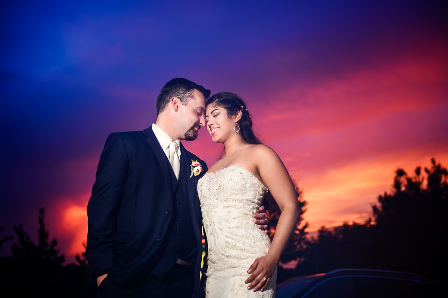 Bride and Groom head to head at sunset, Hilton Garden Inn Pensacola Airport, Pensacola Summer Wedding, Lazzat Photography
