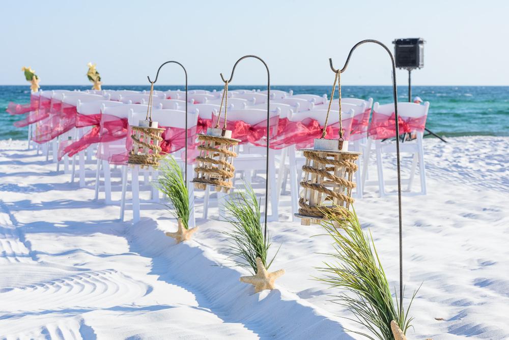 Red and yellow themed beach wedding, Royal Red Destination Wedding, Florida wedding photographer, Lazzat Photography