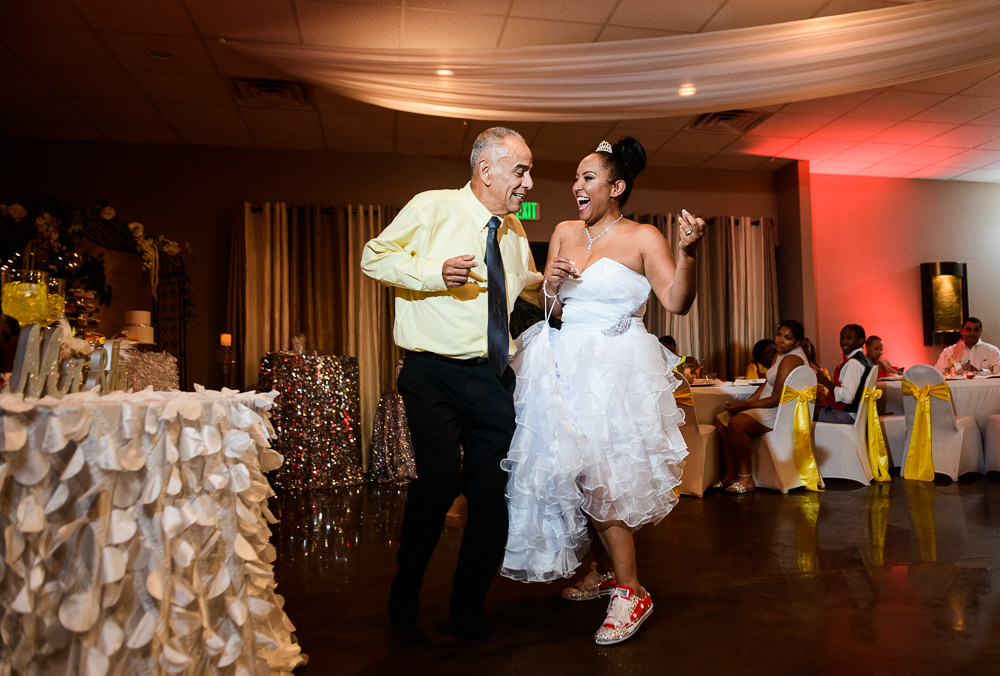 Father Daughter dance during the reception at the event room, Royal Red Destination Wedding, Florida wedding photographer, Lazzat Photography