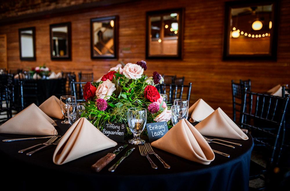Close up of table decorations, Palafox Wharf waterfront reception venue, Palafox Wharf Pensacola Wedding, Orlando Florida Wedding photographer, Lazzat Photography