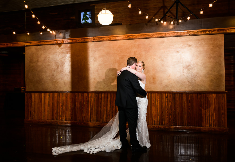 Bride and Groom during first dance, Palafox Wharf Pensacola Wedding, Orlando Florida Wedding photographer, Lazzat Photography