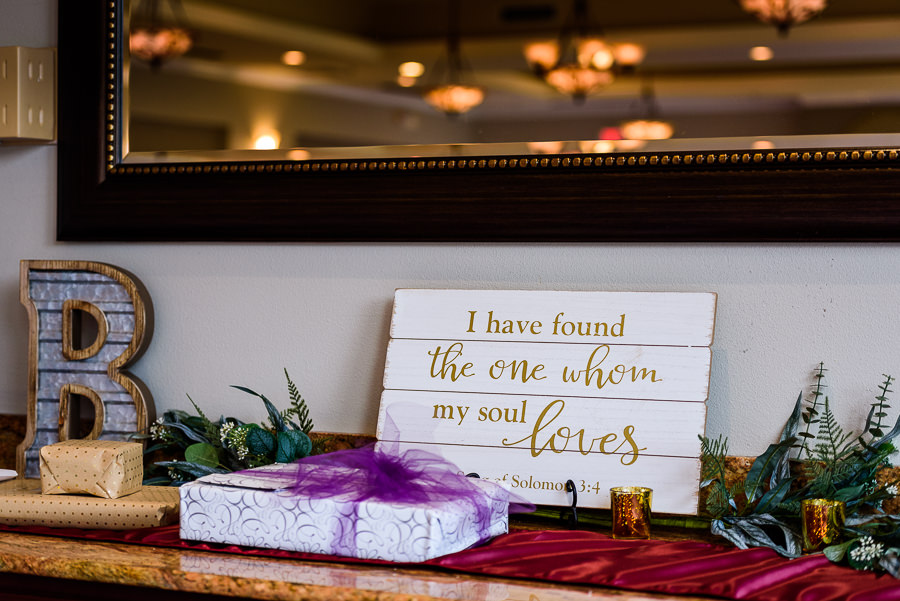 Wedding details, I have found the one whom my soul loves Song of Solomon sign, Scenic Hills Country Club, multicultural filipino wedding, Catholic country club wedding, Pensacola Florida, Lazzat Photography