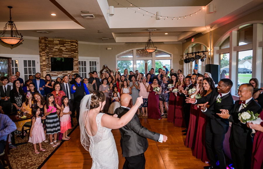Bride and Groom during their first dance, Scenic Hills Country Club, multicultural filipino wedding, Catholic country club wedding, Pensacola Florida, Lazzat Photography